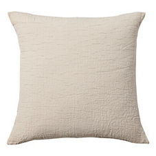 Pickstitch Matelasse Euro Sham – Natural