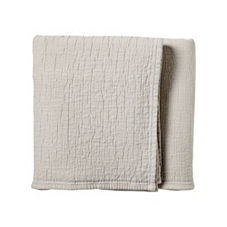 Pickstitch Matelassé Coverlet & Sham – Natural
