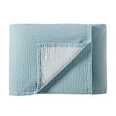 Reversible Matelassé Blanket – Aqua