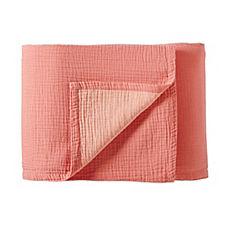Reversible Matelassé Blanket – Salmon