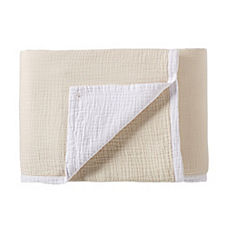Reversible Matelassé Blanket – Natural