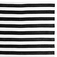 Outdoor Awning Stripe Rug – Black/White