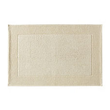 Textured Cotton Bath Mat – Ivory