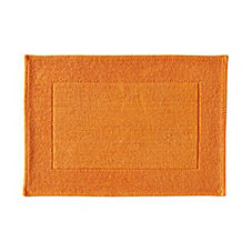 Textured Cotton Bath Mat – Tangerine