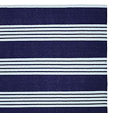 Reade Stripe Dhurrie – Navy/Chambray