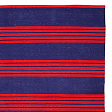 Reade Stripe Dhurrie – Navy/Red