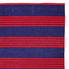 Reade Stripe Dhurrie – Navy/Red