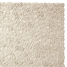 Natural Flora Crocheted Rug