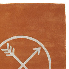 Persimmon Arrow Rug