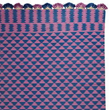 Grape/Indigo Zig Cotton Dhurrie Rug