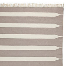 Bark Paddle Stripe Cotton Dhurrie