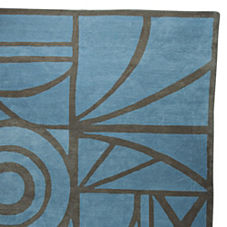 Sea Blue Salon Rug
