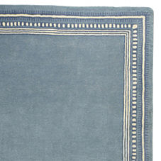 Scribble Border Rug – Chambray