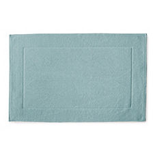 Textured Cotton Bath Mat – Aqua