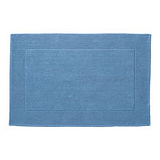 Textured Cotton Bath Mat – Chambray