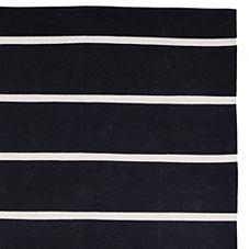 Jersey Stripe Dhurrie – Black