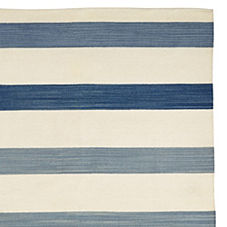 Playa Stripe Dhurrie – Blue