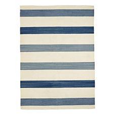 Playa Stripe Dhurrie – Blue