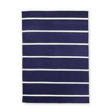 Jersey Stripe Dhurrie – Navy