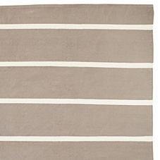Jersey Stripe Dhurrie – Bark