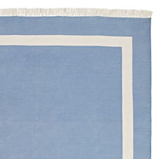 Chambray Border Frame Rug