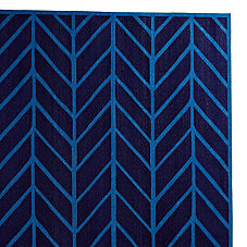 Navy/Cobalt Feather Rug