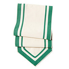 Border Stripe Table Runner – Kelly Green