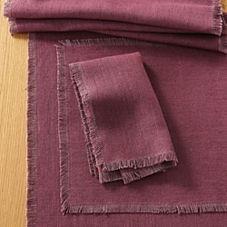 Capri Table Linens – Plum