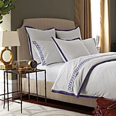 Royal Purple Border Frame Duvet & Shams