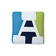 Navy Western Letter Pillow