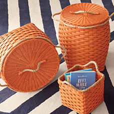 Rope Bin Collection - Orange