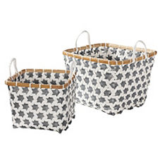 Pewter Mercado Baskets – Set of 2