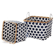 Mercado Baskets – Navy (Set of 2)