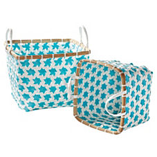 Aqua Mercado Baskets – Set of 2