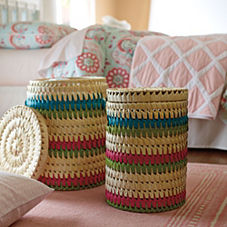 Hyannis Stripe Baskets - Set of 2