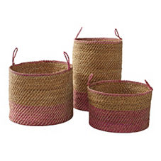 Laguna Seagrass Baskets – Juice (Set of 3)