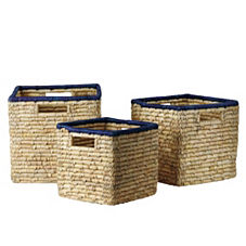 Nantucket Bins – Navy (Set of 3)