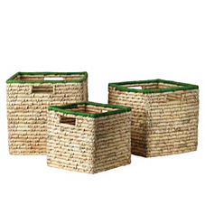 Nantucket Bins – Grass (Set of 3)