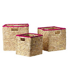 Nantucket Bins – Fuchsia (Set of 3)