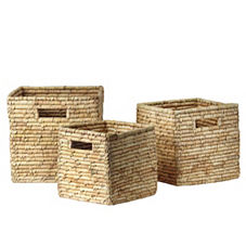 Nantucket Bins – Natural (Set of 3)