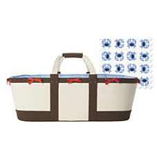 Sausalito Basket – Chocolate/Chambray