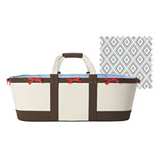 Chocolate/Chambray Sausalito Moses Basket