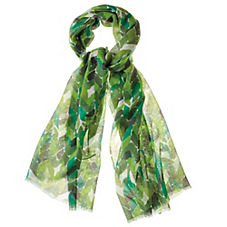 Painted Chevron Scarf – Green