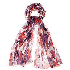 Painted Chevron Scarf – Purple