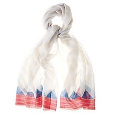 Triangle Scarf – Coral/Navy