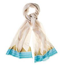Triangle Scarf – Turquoise/Army Green
