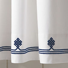 Navy Gobi Shower Curtain