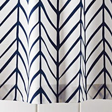 Feather Shower Curtain – Navy