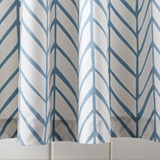 Aqua Feather Shower Curtain