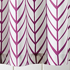 Berry Feather Shower Curtain